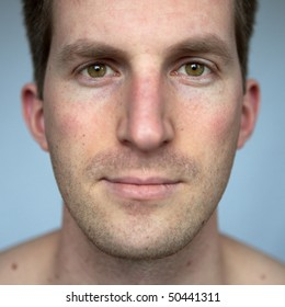 Natural portrait with available light of a young man