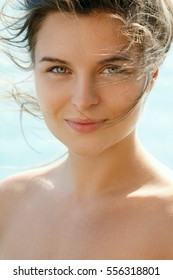 Natural portrait of woman without make up