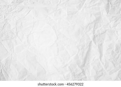 Natural recycled paper or paperwork closeup of wrinkle texture shiny work sheet. Have art light tone grey and white adorn.