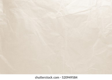 Natural recycled paper or paperwork closeup of wrinkle texture shiny work sheet. Have art light tone white adorn.