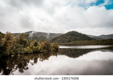 Reflections in Water Like Mirror Images, Stock Photos