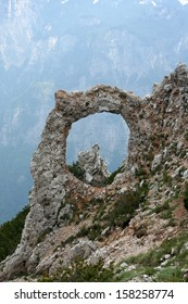 "Natural ring form called ""Hajducka vrata"" on Cvrsnica mountain, Bosnia and Herzegovina"