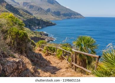 Natural Riserve of Zingaro, Trapani, Sicily, Italy. Riserva Naturale Orientata dello Zingaro. Cala dell'Uzzo