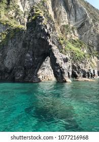 Natural rock arc on Palmarola. This is island