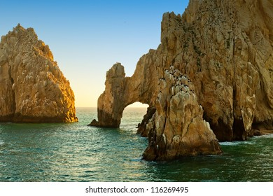 The natural rock formation, The Arch, in Cabo San Lucas, Mexico