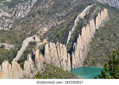 Natural rock wall called