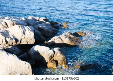 Natural rocks on coast, photo from Halkidiki, Greece
