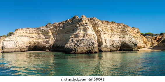 Natural rocks at Prainha in Algarve Portugal.