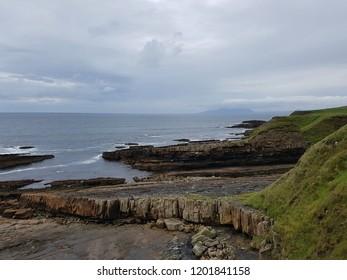 Natural rocky beach landscape in Mullaghmoore, County Sligo, Ireland.