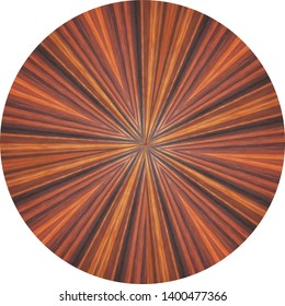 natural rosewood veneer round panel, exotic grain with centered pattern