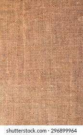 natural rough hemp fabric closeup