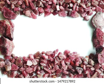 natural rough ruby  gemstone  background
