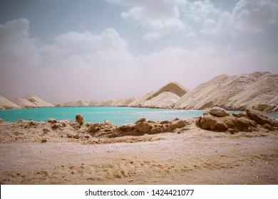 natural salt lake in siwa oasis