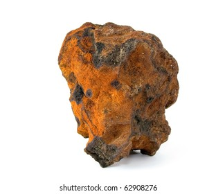 Natural sample of iron ore.
