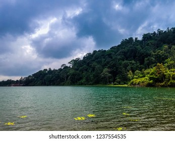 Natural Scenery Cloudy Atmosphere On Lake Beratan At Bedugul, Tabanan, Bali, Indonesia