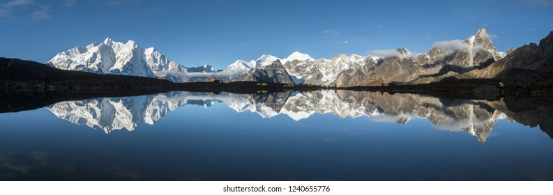Natural scenery of the eastern slope of Mount Everest, Tibet