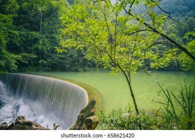 Natural scenery of Xiaoqikong scenic area in Libo, Guizhou, China