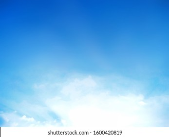 Natural sky beautiful blue and white texture background - Shutterstock ID 1600420819