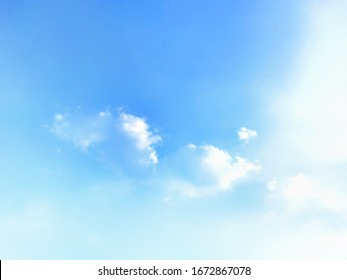 Natural sky beautiful blue and white texture background - Shutterstock ID 1672867078
