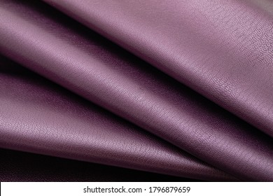 Natural smooth purple-colored cow leather