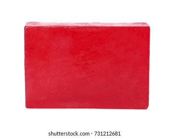 natural soap bar isolated on white background