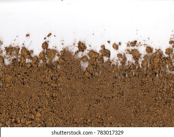 natural soil texture on a white background