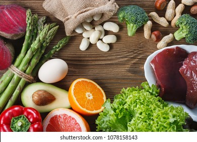 Natural sources of folic acid as liver, asparagus, broccoli, eggs, salad, avocado, paprika, nuts, orange , beetroots and beans