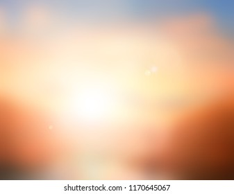 Natural spring backgrounds create light soft colors and bright sunshine a short time before sunset