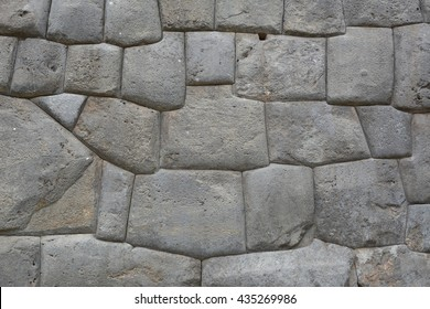 Natural stone abstract background wall made by ancient Incas of Peru in South America