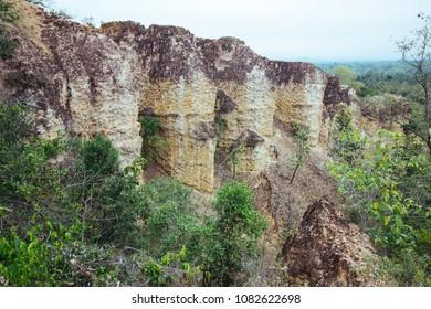 Natural stone Gyu Seuten in Mae wang national park in Chiangmai Thailand.