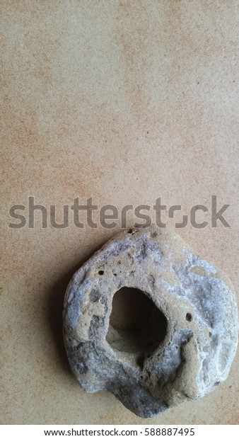 Natural stone with hole