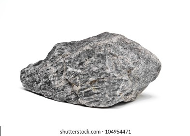 Natural stone isolated on white background