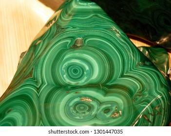 Natural stone malachite