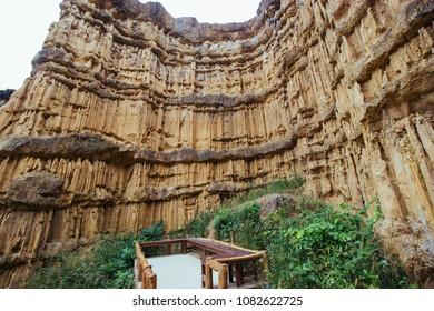 Natural stone phachor in Mae wang national park in Chiangmai Thailand.