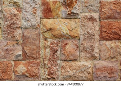 Natural stone with a red-yellow tinge