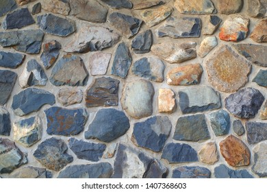 natural stone rock wall masonry construction background texture building