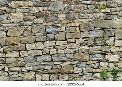 Natural Stone Wall. Mosaic Background and Texture for text or image.