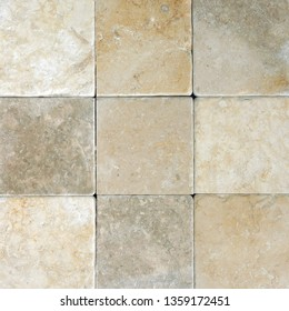 Natural stone wall texture. Rustic colorful surface floor pavement background
