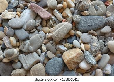 Natural stones background shoot in studio