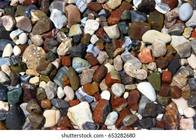 Natural stones, various types and color