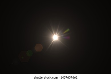 Natural, Sun flare on the black background