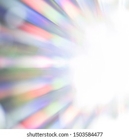 Natural and sunny background with color ranges of red, orange, yellow, green, blue, indigo and violet. Spectrum of the visible light with colorful beams of light. Copy space in the sparkling sun.