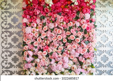 natural sweet pink roses wedding wall backdrop decoration/ valentine's day flower