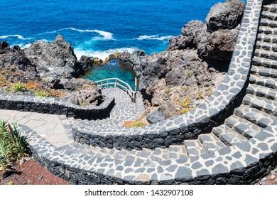 natural swimming pool at tenerife coast, Spain