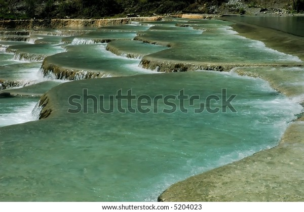 natural terrance white water in southern china
