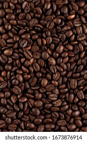 Natural texture: macro shot of roasted coffee beans