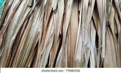 Natural textured from dried coconut palm leaves
