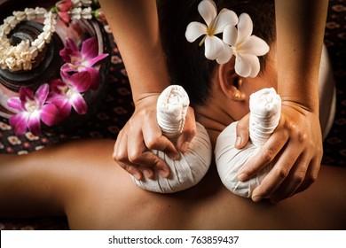 Natural thai massage in spa