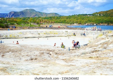 Natural thermal area (Aeolian Islands), Italy