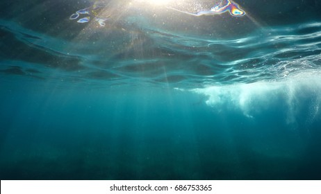 natural underwater surface background